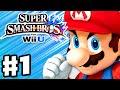 Super Smash Bros. Wii U - Gameplay Walkthrough Part 1 - Mario! (Nintendo Wii U Gameplay)