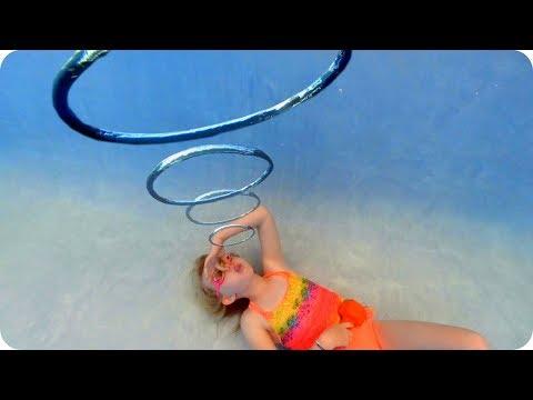 Bubble Rings Underwater
