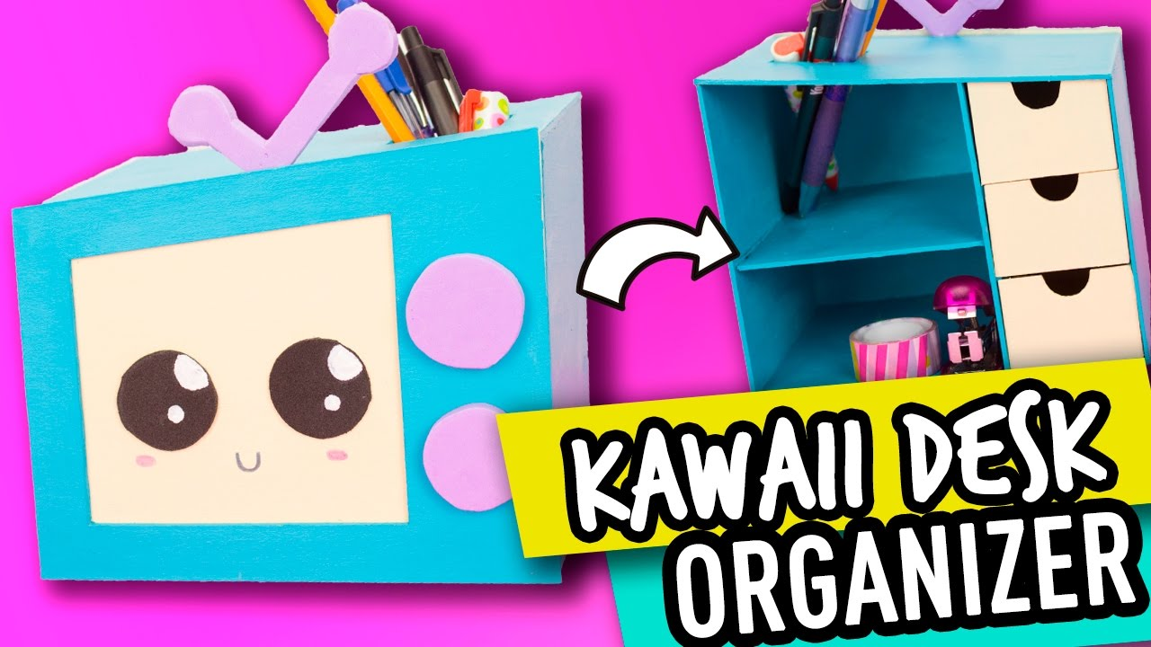 Diy Desk Organizer Diy Desk Organizer Super Cute And Kawaii Cardboard Organizer