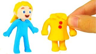 FUNNY KIDS CHANGE CLOTHES ❤ Play Doh Cartoons For Kids