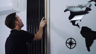 Lamele premium drewniane 3D panele dekoracyjne akustyczne listwy ozdobne wertikale montaż