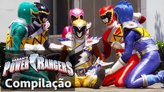 Power Rangers em Portugus  Compilao de derrotas do Dino Charge Rangers