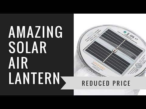 Solar powered inflatable lantern - emergency solar lantern -- the luci light -- full review