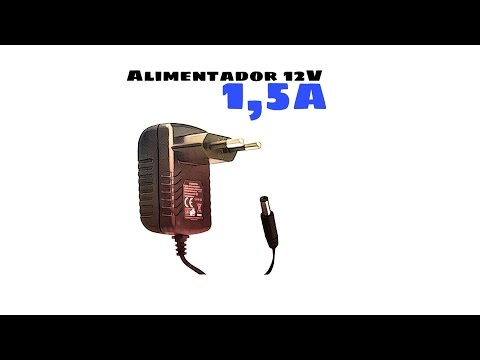 Video de Alimentador 12V  Negro 1.5A