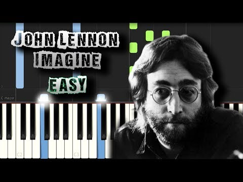 John Lennon - Imagine - EASY - Piano Tutorial Synthesia (Download MIDI)
