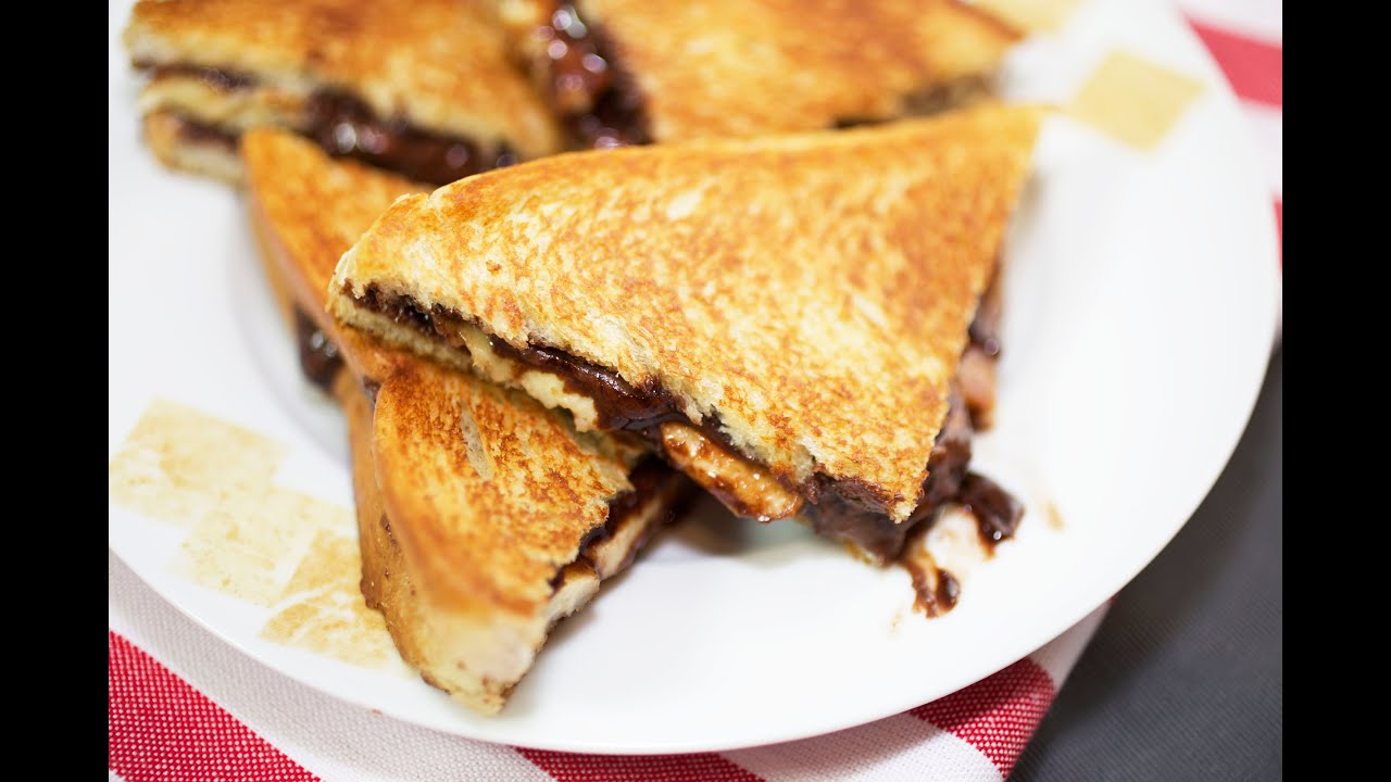 Grilled Nutella And Banana Sandwiches - YouTube