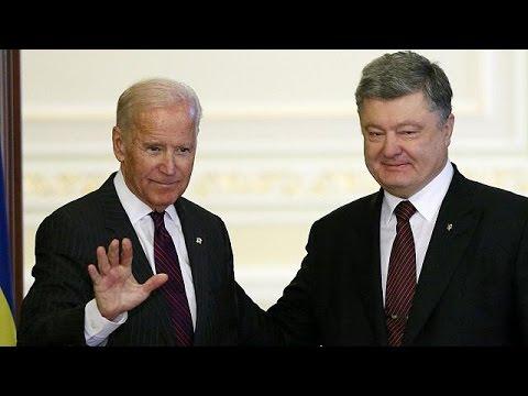 Joe Biden aboga en Kiev por mantener las sanciones contra Moscú