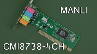 Розпакування Manli C-Media M-CMI8738-4CH