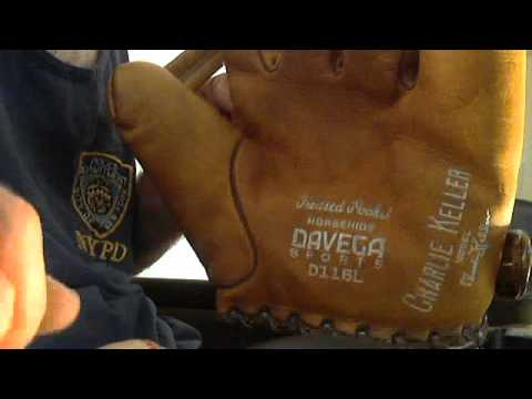 1939 ny yankees charlie keller baseball glove thrift store find- wow!!!