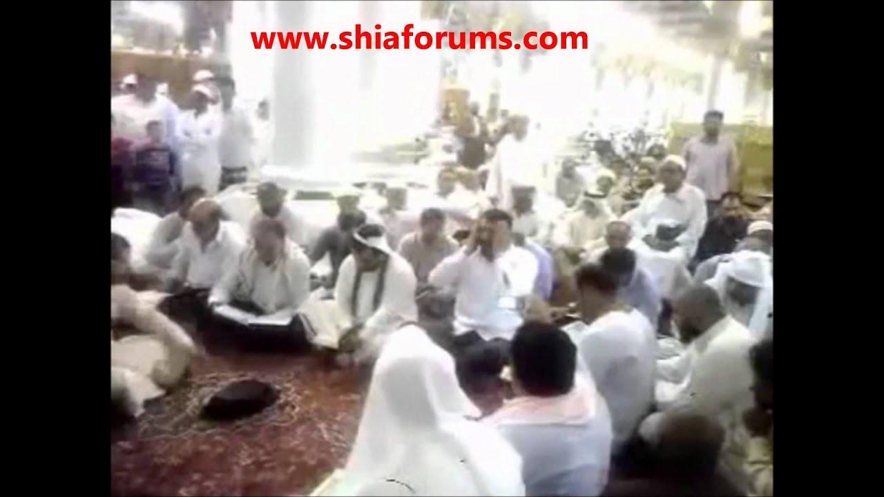 Download Wahabi Stopping Shia from Reading Quran in Madina