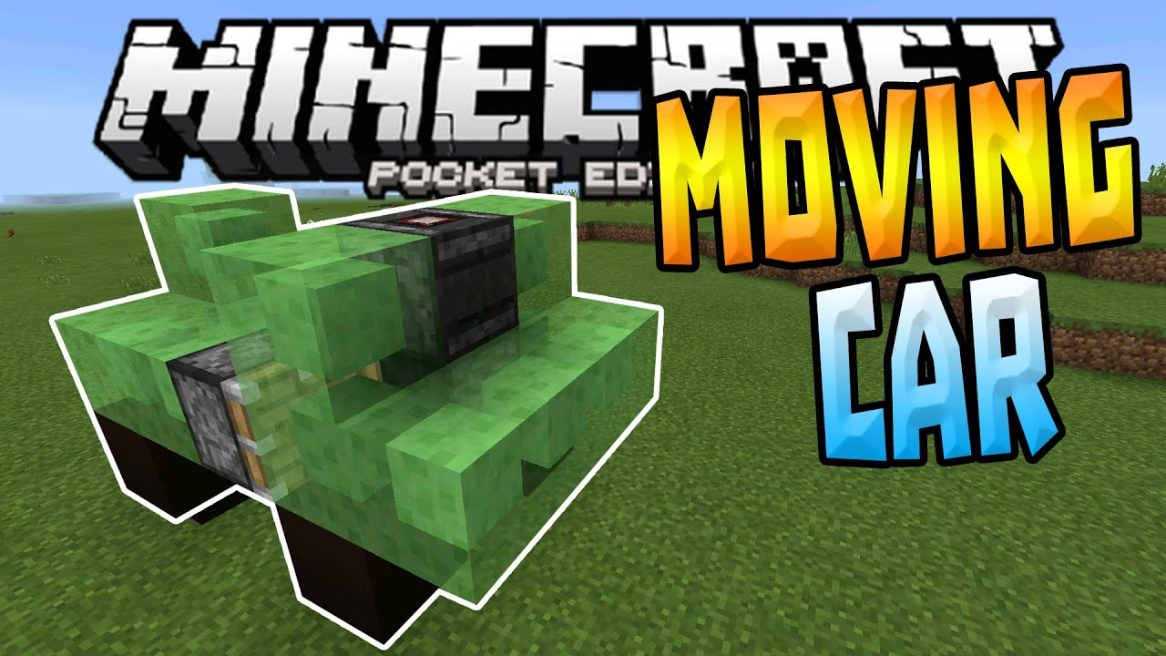 MOVING CARS in MCPE!!! - 1 1+ Slime Block Creation - Minecraft PE (Pocket  Edition)