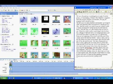 Windows Movie Maker Youtube Poop Tutorial 1 The Basics