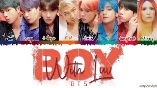 Cover images BTS (방탄소년단) - 'BOY WITH LUV' feat Halsey Lyrics [Color Coded_Han_Rom_Eng]