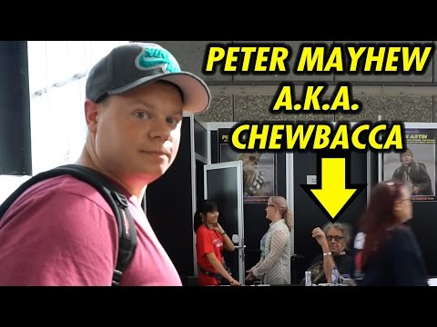 COMIC CON Amsterdam 2016/meeting Peter Mayhew a.k.a. CHEWBACCA from Star wars!
