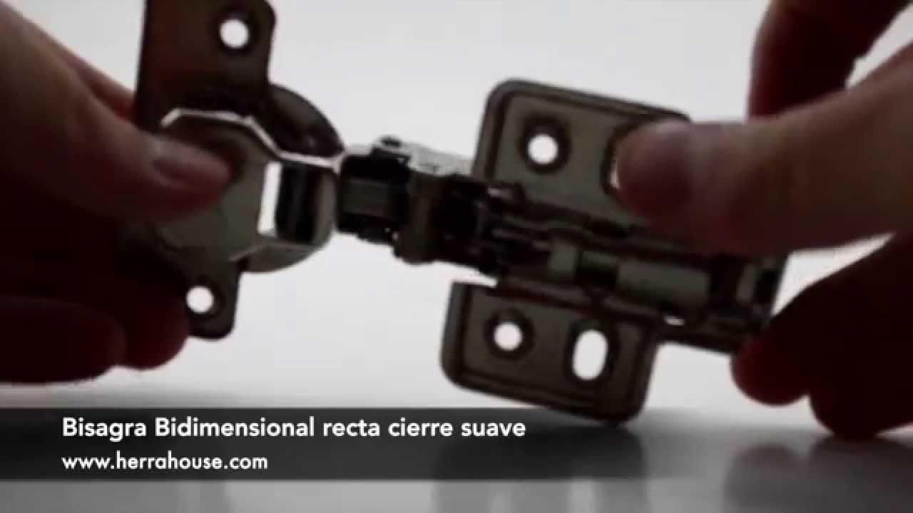 Bisagra Bidimensional Recta Cierre Suave - YouTube