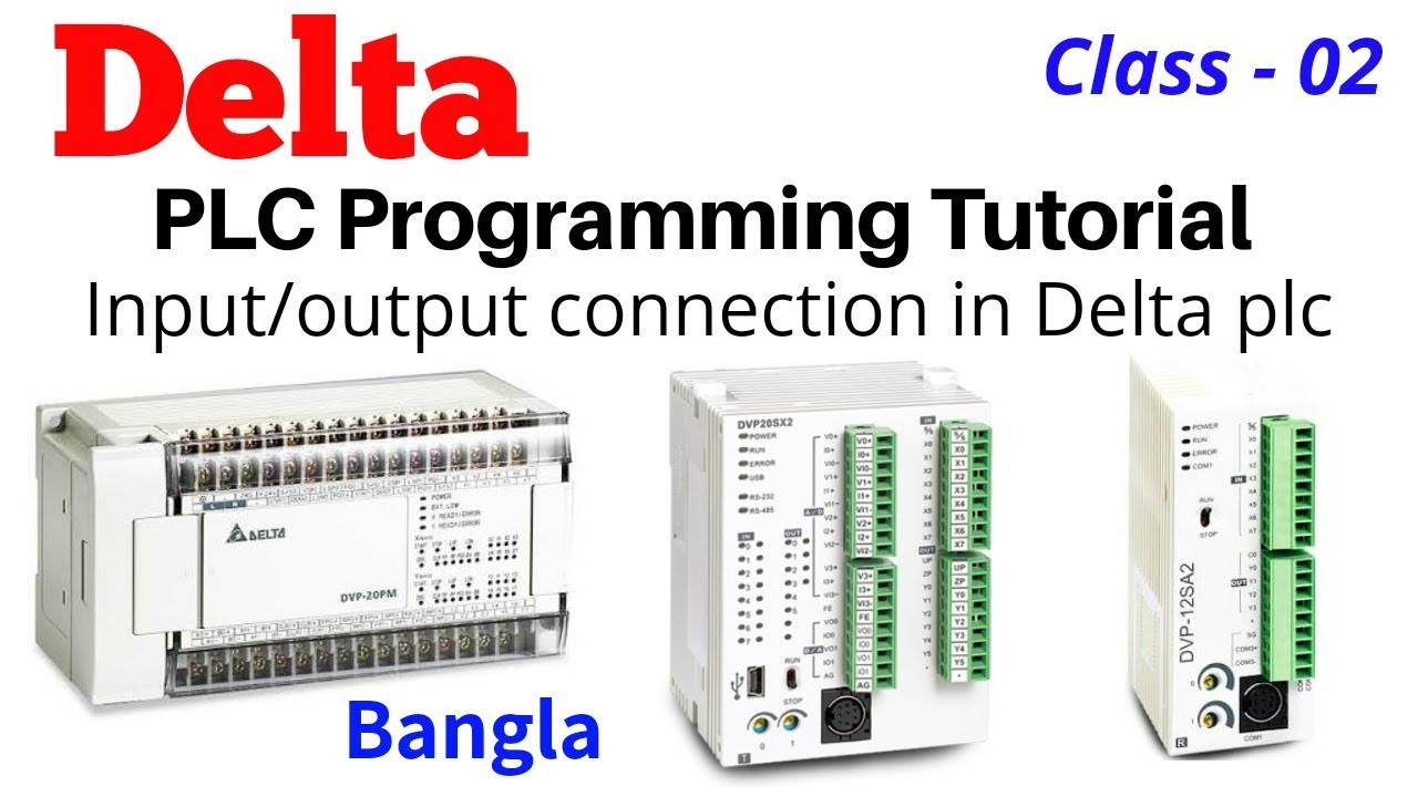 Delta PLC Bangla Tutorial How to input output connection in Delta PLC