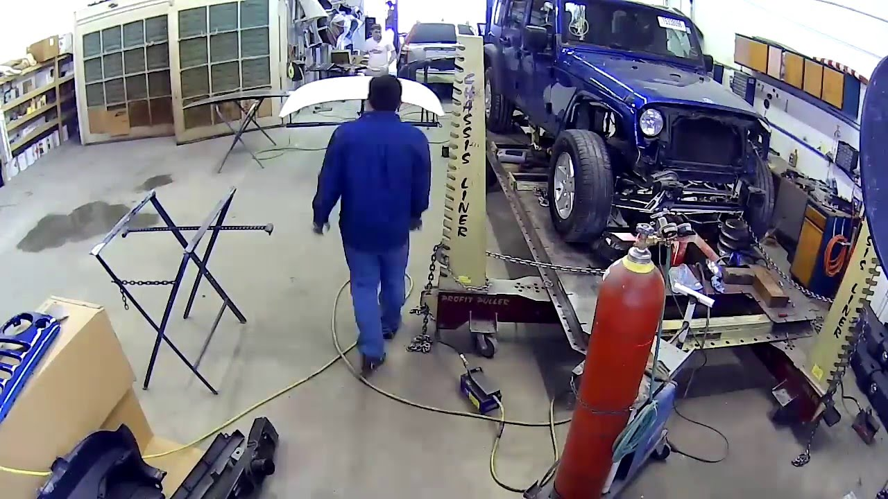 Frame Work Jeep Collision Repair - YouTube