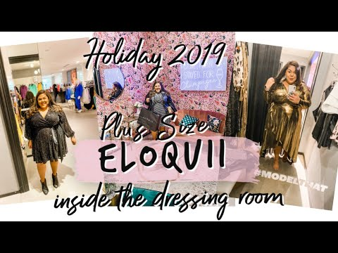 ELOQUII PLUS SIZE HOLIDAY 2019 HAUL + INSIDE THE DRESSING ROOM