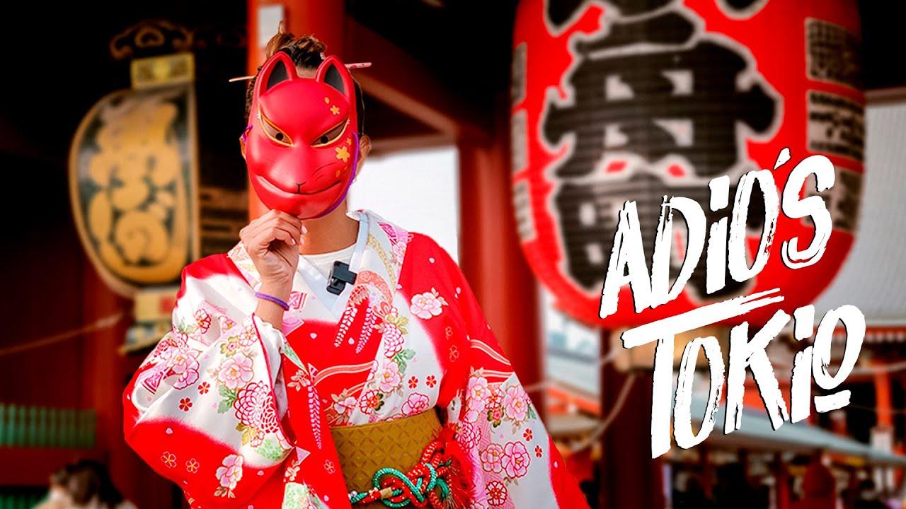 ADIÓS TOKIO, visitando un TEMPLO BUDISTA en KIMONO |  Sensoji