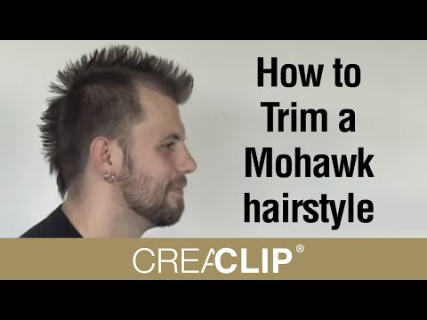 How to Trim a Mohawk hairstyle - Mens haircuts at home!