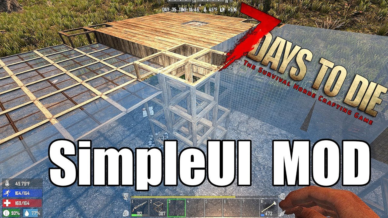 7 Days to Die - Simple UI Mod Install Tutorial - Improve the HUD