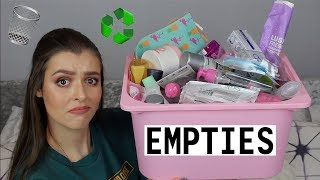 BEAUTY EMPTIES | Makeup With Meg