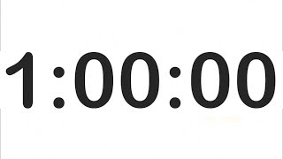 1 Hour Countdown Timer with Alarm! Clock Timer 1 Hour!