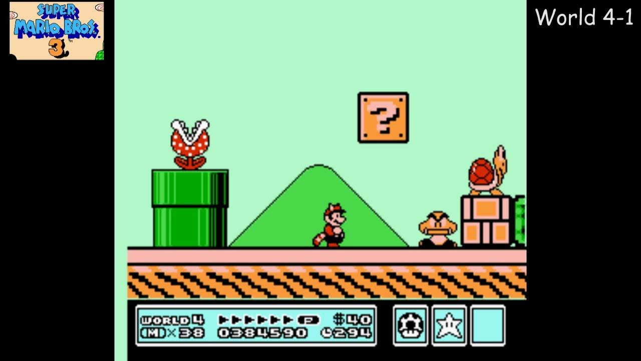 Super Mario Bros. 3 [NES] Playthrough #04. World 4: Giant Land - YouTube
