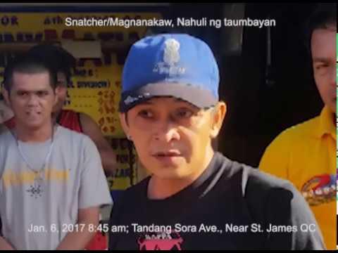 Snatcher, Huli sa taumbayan--Jan.6, 2017--8:45am--Brgy Tandang Sora QC