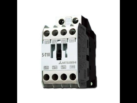 Workshop Electrical Engineering. How To Use Magnetic Contactor MITSUBISHI S-T10 ? Full Review thumbnail