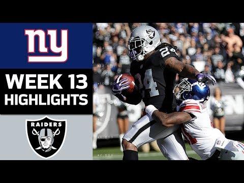 Giants vs. Raiders | NFL Week 13 Game Highlights