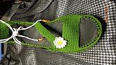 Эспадрильи крючком. Часть 2/ Crochet Espadrilles. Part 2 - YouTube