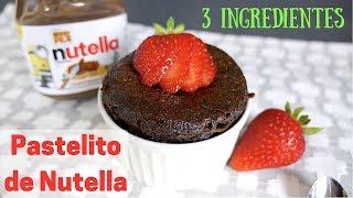 Pastelito en Taza de Nutella - 3 Ingredientes - ¡Sin Harina! - En Microondas
