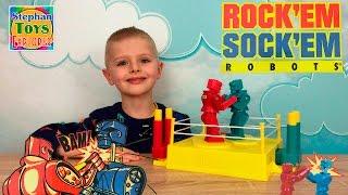 Игра Челлендж Роботы-Боксеры! БИТВА РОБОТОВ. // Rock 'em Sock 'em Robots Game unboxing