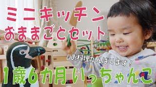 今回はいっちゃんこに【だいわミニキッチン】と【WOODY PUDDYおままごと...