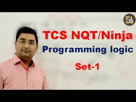 Repeat TCS NQT/Ninja Programming Logic Set-1 by GATE/Placement Video