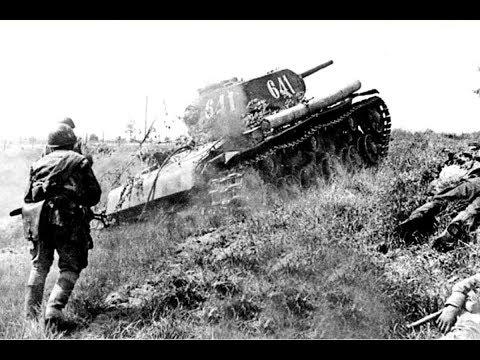 Курская битва.  Реальные кадры сражения.