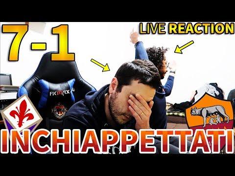 UMILIATI... Fiorentina-Roma 7-1 [LIVE REACTION]