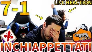 UMILIATI... Fiorentina-Roma 7-1 [LIVE REACTION]