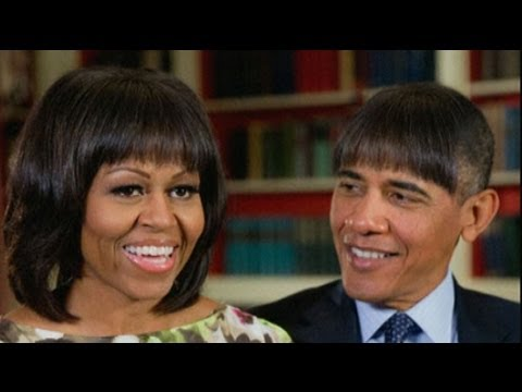 Funny Video Obama Jokes About Radical New Hairstyle Youtube