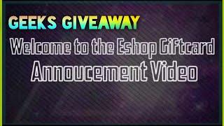 Nintendo Eshop Giftcard Giveaway!!