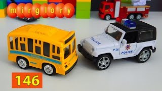 Мультфильм про машинки Автобус Полицейская машина Город машинок 146 серия Мультик для детей mirglory