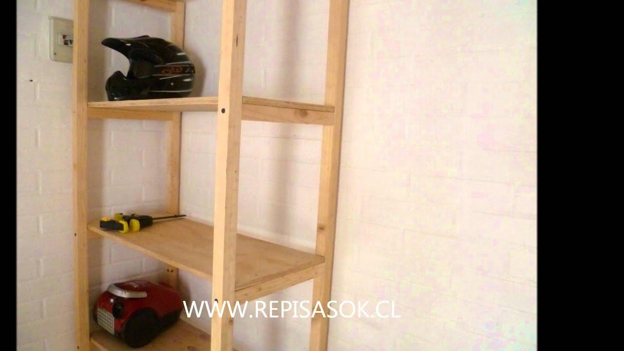 Como hacer repisas en bodega hogar edificios empresas - Como lacar un mueble de madera ...