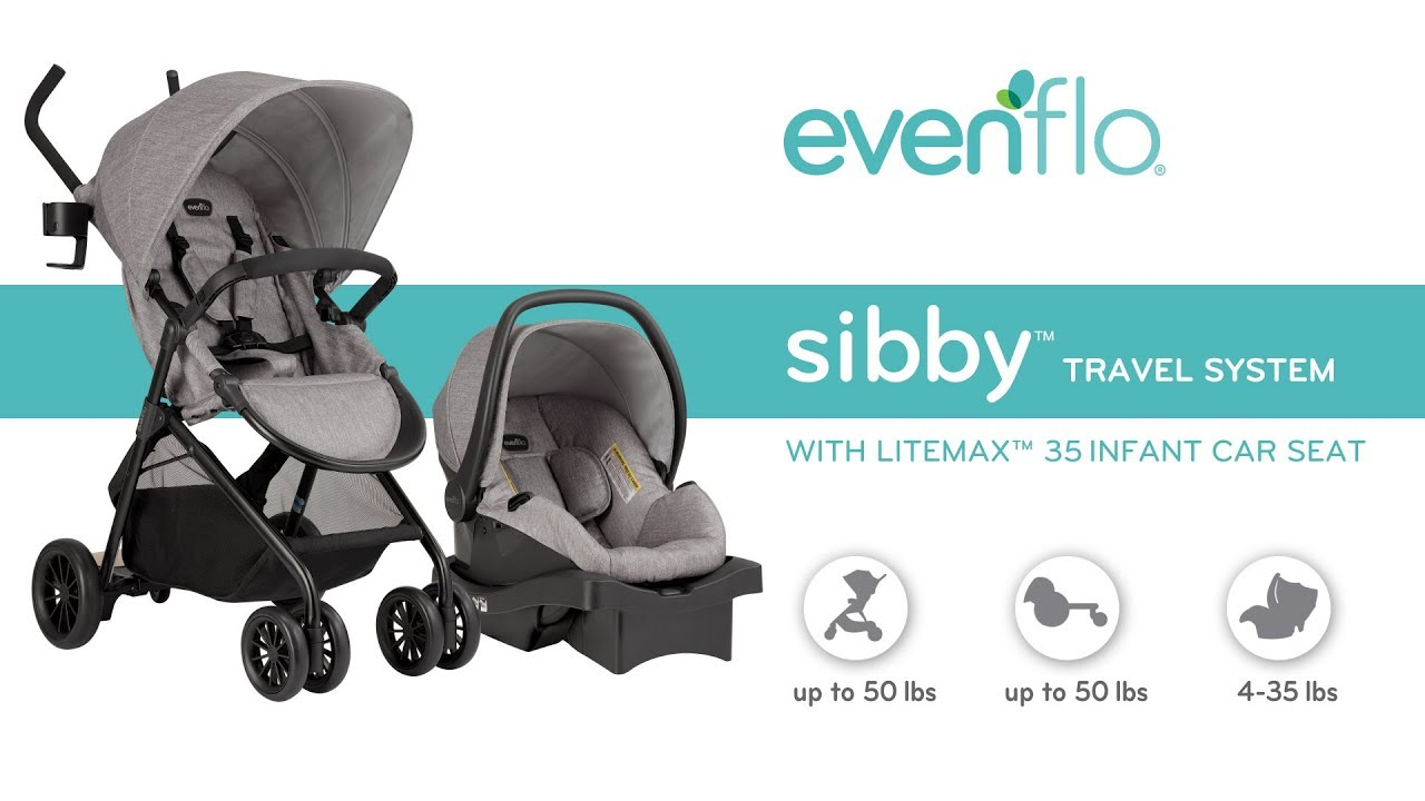 Evenflo Sibby Travel System With Litemax 35 Infant Car Seat Product Tour