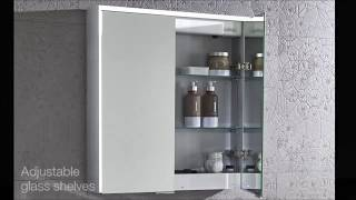 Tune & Compose Illuminated Bluetooth Bathroom Mirror Cabinets - Roper Rhodes
