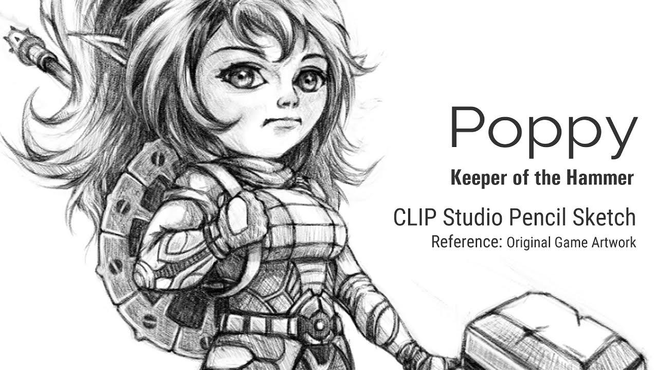 Drawing Poppy League Of Legends Clip Studio Pencil Sketch Youtube The league fan art showcase features exceptional league of legends fan art from around the world. drawing poppy league of legends clip studio pencil sketch