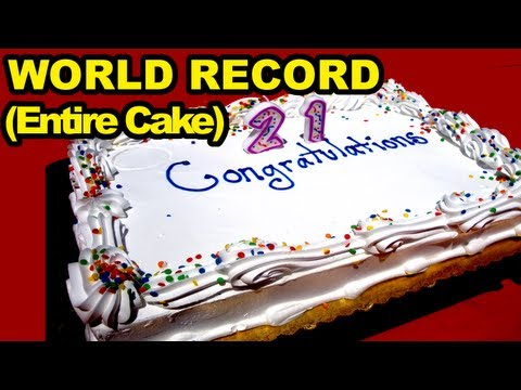 Birthday Cake Eating World Record (Entire Cake)