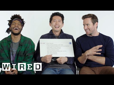 Steven Yeun, Armie Hammer & Jermaine Fowler Answer the Web's Most Searched Questions  WIRED