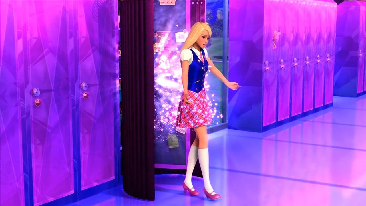 15eff742fde Barbie  Princess Charm School - Blair uses her magical locker - YouTube