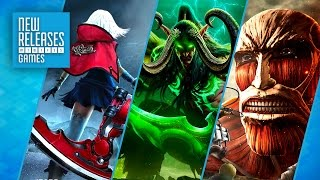 Attack on Titan, World of Warcraft Legion, God Eater 2: Rage Burst - New Releases